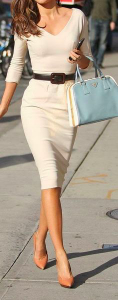 white classy outfit