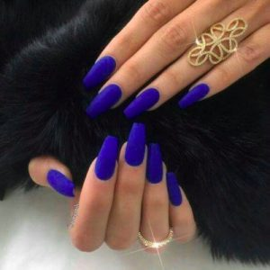 Electric Blue Nails