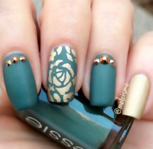 Gold And Teal Take 2