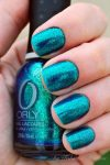 Teal and Gold Nails