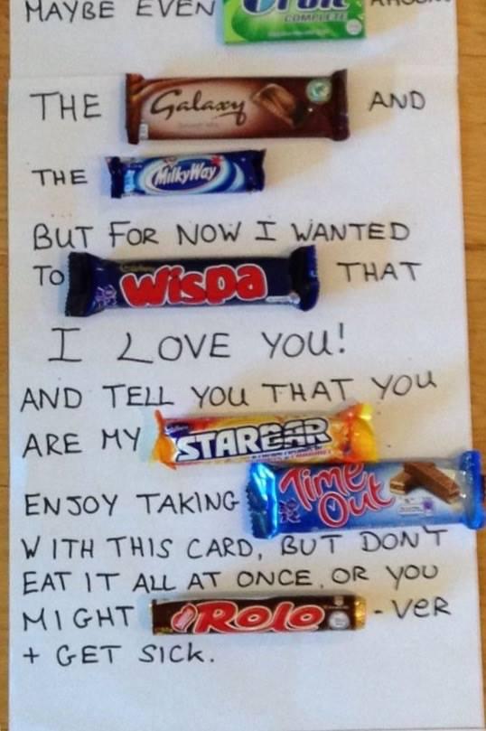 Write her a handwritten letter