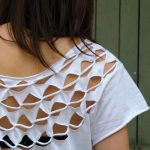 geometric cut shirt diy