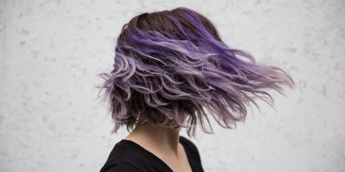 purple balayage hair