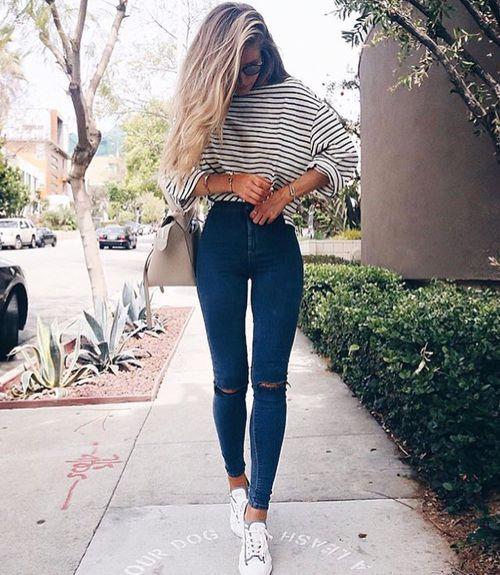 High waist skinny