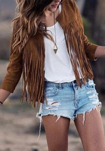 suede boho outfit