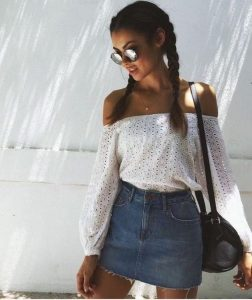 off lace boho outfit