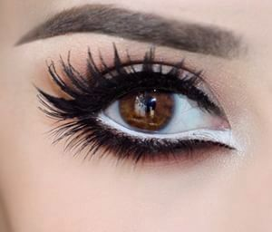 classic makeup for brown eyes