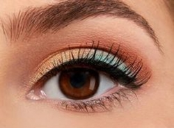 teal-peach-brown-eye-makeup