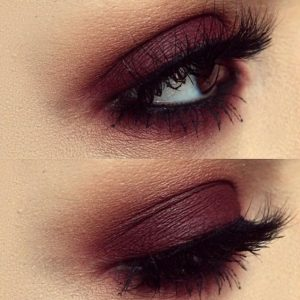 burgundy-eyes-brown-makeup