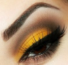 brown-eyes-yellow-makeup