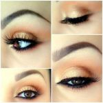peach makeup for brown eyes