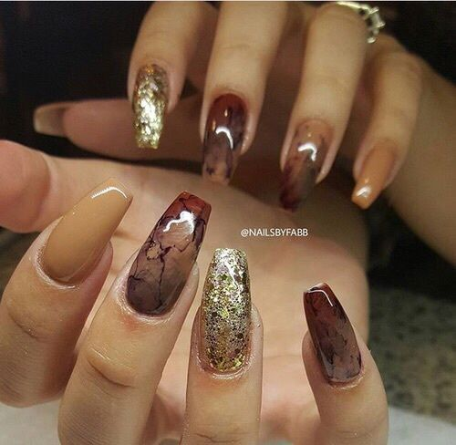 Fall Nail Designs 2017: 35 Gorgeous Coffin Shaped Nails