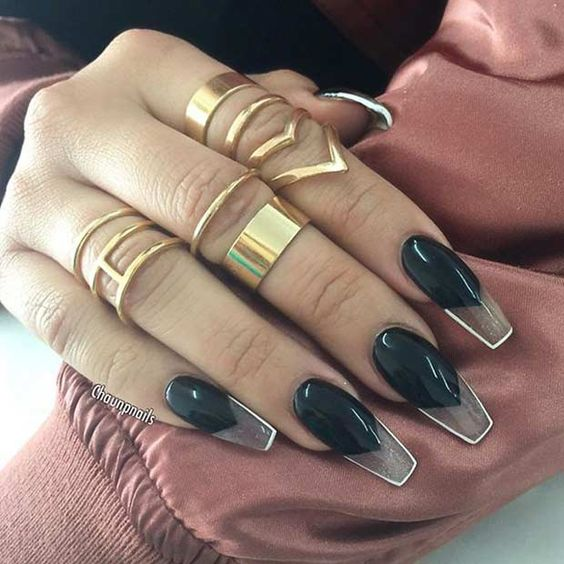 Coffin Nails Inspiration | 35 Gorgeous Coffin Shaped Nails