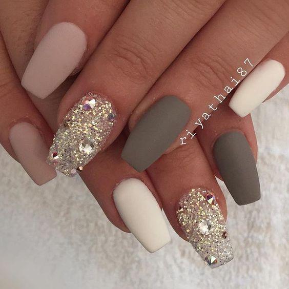 30 Beautiful Diamond Nail Art Designs | Diamond Nails