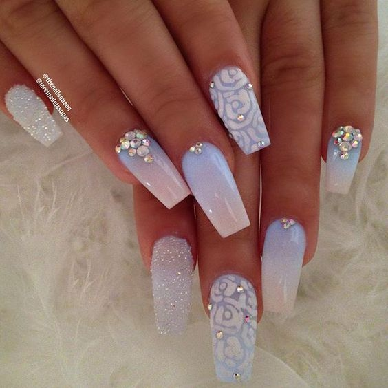 30 Beautiful Diamond Nail Art Designs Diamond Nails