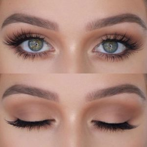 green eyes long lashes