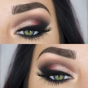 green eyeshadows makeup