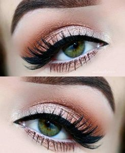 light green eyes makeup