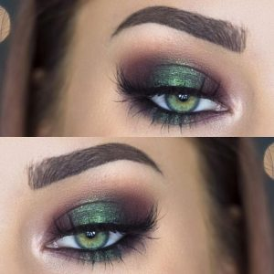pretty green eyes makeup