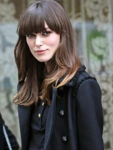 bangs hairstyle for heart shape faces
