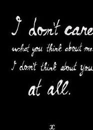 50 I Dont Care Quotes And Sayings