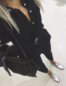 all black school outfit