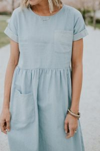 denim dress school outfit
