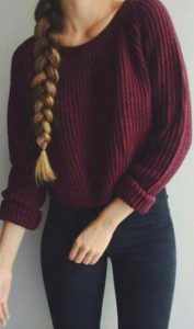 burgundy school outfit
