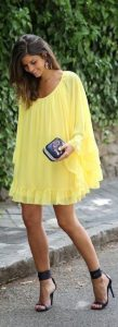 yellow brunch outfit