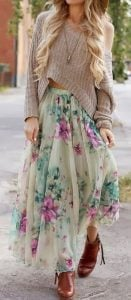 mix nad match floral outfit