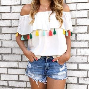 tassel top outfit