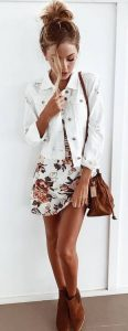 white floral outfit