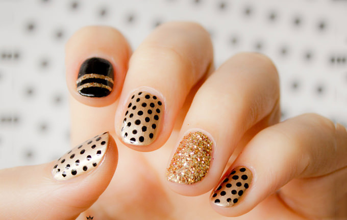 gold nails designs - Gold Nails: 35 Gold Nail Designs
