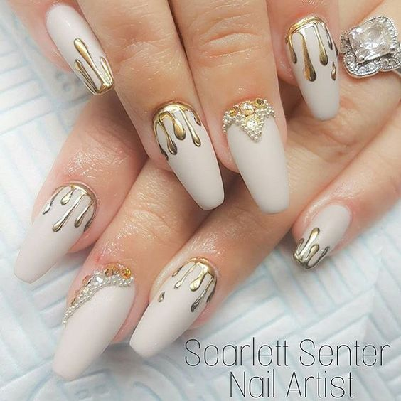 Gold Nails 35 Gold Nail Designs