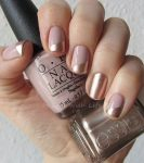 metallic rose nude nails