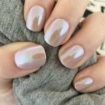 pearly nude nails