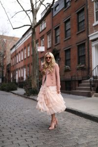 pink tulle blazer outfit