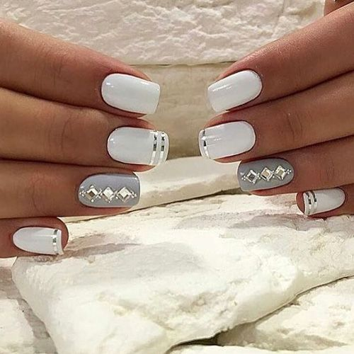french silver manicure