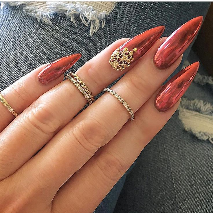 Long Pointy Nails Designs