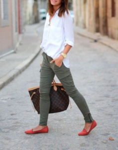 khaki college outfit
