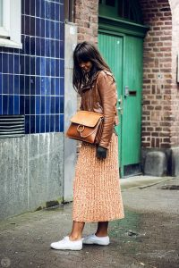 leather jacket outfit brown