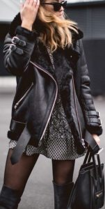 leather jacket outfit winter