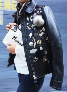leather jacket pins