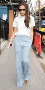 pastel outfit victoria beckham