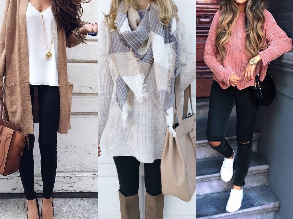 8a4f36598ce57 35 Stylish and Cute Outfits With Leggings