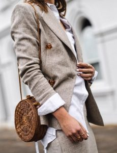 all beige blazer outfit