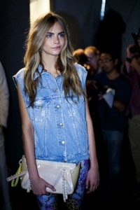 denim shirt cara sleeveless
