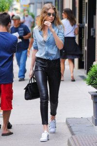 denim shirt gigi hadid