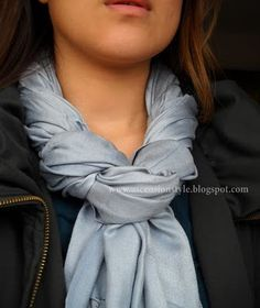 twisted scarf tie
