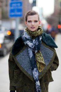 multipattern scarf style
